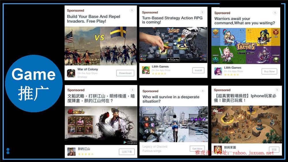 雅虎广告游戏行业案例